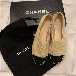 Chanel Espadrille Shoes sz 38 Brand New